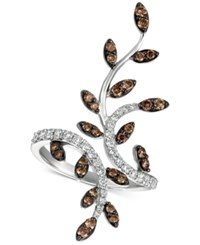 Le Vian Chocolatier Diamond Leaf Ring 1 Ct. T.W. In 14K White Gold