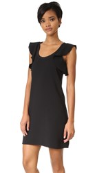 Elizabeth And James Dillon Ruffle Back Dress Black