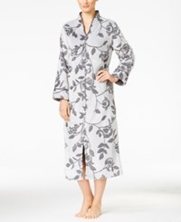 Charter Club Zip Front Tapestry Print Robe Only At Macy's Grey Vine Tapestry