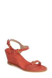 Bettye Muller 'Portofino' Wedge Sandal Women Red