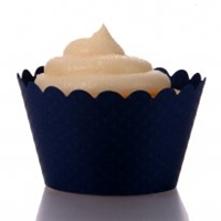 Emma Cupcake Wrappers Navy Blue 12 Wrappers Best Seller
