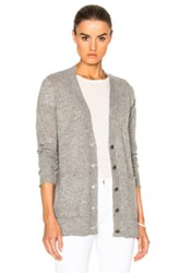 Atm Anthony Thomas Melillo V Neck Cardigan Sweater In Gray