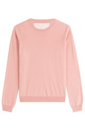 Red Valentino Cashmere Pullover With Silk Rose