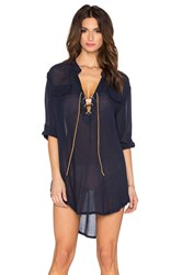Eberjey Summer Of Love Riley Cover Up Navy