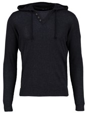 Teddy Smith Primo Jumper Dark Navy Chine Mottled Dark Blue