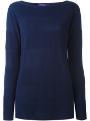 Ralph Lauren Boat Neck Sweater Blue