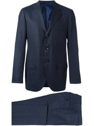 Kiton Two Piece Suit Blue