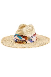 Emilio Pucci Straw Hat With Printed Trim Multicolor