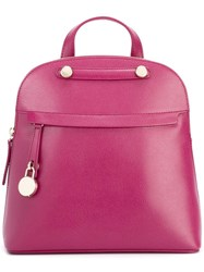 Furla Small Zipped Backpack Pink Purple