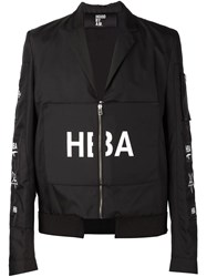 Hood By Air Velcro Patch Zipped Jacket Black