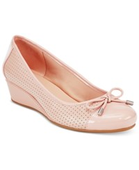 Easy Spirit Dawnette Wedge Pumps Women's Shoes Light Pink