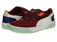 Puma Mcq Brace Low Syrah Transparent Yellow Men's Lace Up Casual Shoes Red