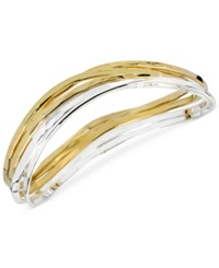 Robert Lee Morris Soho Two Tone Bangle Bracelet Set