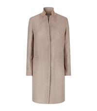 Fabiana Filippi Chain Detail Wool Coat Female Beige
