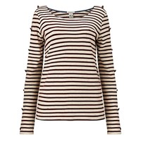 Maison Scotch Long Sleeve Breton T Shirt Red White Red White