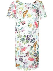 I'm Isola Marras Floral Embroidered Dress White