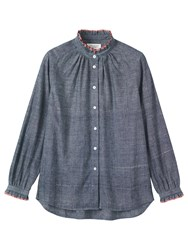 Toast Cotton Khadi Shirt Chambray Blue