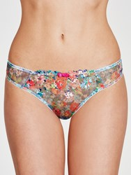 Collection By John Lewis Valentina Bikini Briefs Bright Embroidery Turquoise