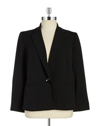 Nipon Boutique Plus One Button Blazer Black