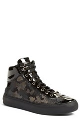 Jimmy Choo Men's 'Argyle' High Top Sneaker Black Glitter Leather