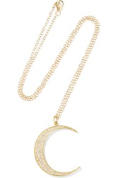 Andrea Fohrman Luna 14 Karat Gold Diamond Necklace