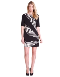 Tahari Arthur S. Levine Nelson Banded Shift Dress