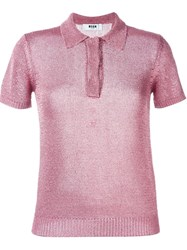 Msgm Polo Shirt Nude And Neutrals