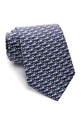 Tailorbyrd Golf Cart Silk Tie Blue