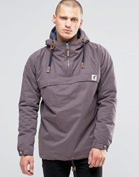 Fat Moose Sailor Overhead Jacket Quilted Lining Mocca Brown