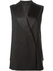 Jil Sander Double Breasted Waistcoat Black