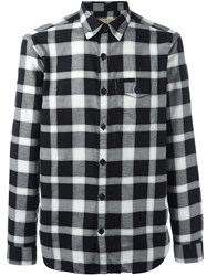 Burberry Plaid Button Down Shirt Black