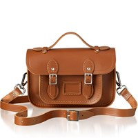 The Cambridge Satchel Company Women's Mini Magnetic Leather Satchel With Branded Hardware Vintage
