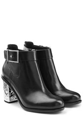 Mcq By Alexander Mcqueen Leather Shacklewell Boots Black