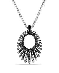 David Yurman Tempo Necklace With Black Spinel Black Silver
