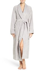 Nordstrom Women's Lingerie Terry Velour Robe Grey Micro