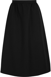 Valentino Wool And Silk Blend Crepe Midi Skirt