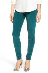 Jag Jeans Women's 'Nora' Pull On Stretch Skinny Corduroy Pants Shade Teal