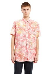 Our Legacy Popover Short Sleeve Shirt Coat Pink