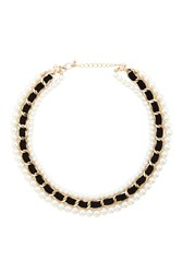 Forever 21 Faux Pearl Collar Necklace