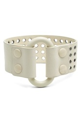 Marc By Marc Jacobs Wide Leather Bracelet White