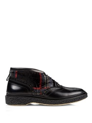 Adieu Type 45 Leather And Velvet Ankle Boots
