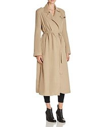 French Connection Sidewalk Drape Trench Coat Sandstone