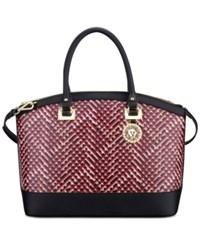 Anne Klein New Recruits Dome Satchel Cherry Multi Black