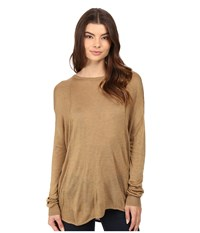 Bench Canvass Long Sleeve Sweater Antique Bronze Marl Women's Sweater Brown
