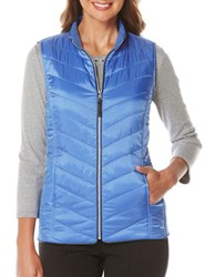 Rafaella Diamond Quilted Sleeveless Vest Cornflower