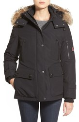 Women's Pendleton 'Expedition' Genuine Coyote Fur Trim Down Parka Black