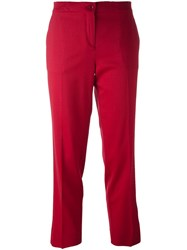 Etro Cropped Trousers Red