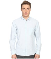 Billy Reid John T Shirt Button Up Light Blue White