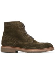 Henderson Baracco Perforated Detailing Boots Green