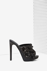 Nasty Gal Jeffrey Campbell Robert's Leather Mule Floral